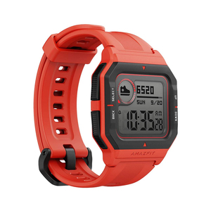Amazfit Neo(A2001) Fitness Retro Smartwatch with Real-Time Workout Tracking, Heart Rate and Sleep Monitor Neo Red