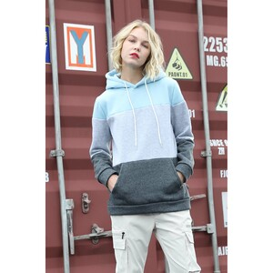 Cortigiani Womens Hooded Sweat Shirt Long Sleeve D2030 Grey Melage