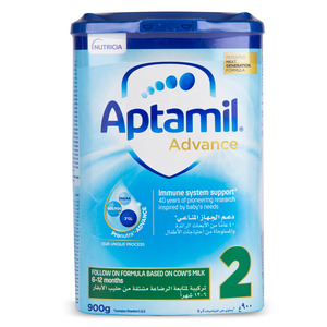 Aptamil Follow On Formula Advance 2 From 6-12 Months 900g