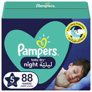 Pampers Baby-Dry Night Diapers Size 5, 12-17kg 88pcs