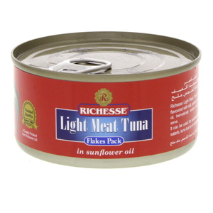 Richesse Light Meat Tuna In Sunflower Oil Flakes Pack 185g