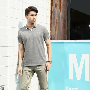 Marco Donateli Men's Polo T Shirt Short Sleeve 17207 Grey