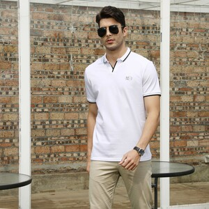 Marco Donateli Men's Polo T Shirt Short Sleeve 17207 White