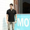 Marco Donateli Men's Polo T Shirt Short Sleeve 17207 Black Medium