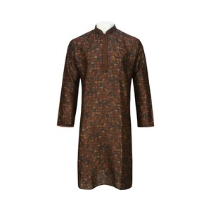 Men's Long Sleeve Kurta Printed L519LK11E