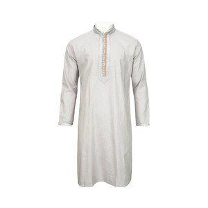 Men's Long Sleeve Kurta White L519LK14B