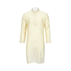 Men's Long Sleeve Kurta Beige L519LK13E