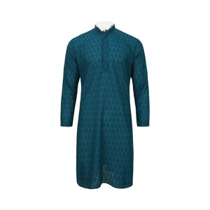 Men's Long Sleeve Kurta Blue L119114