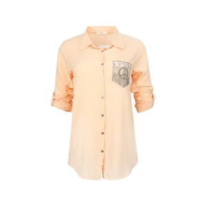 Eten Womens Top Long Sleeve TRK-3 Orange
