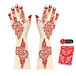 "<em class=""search-results-highlight"">Majarat</em> Henna Design Sticker Large L103 18x25cm"