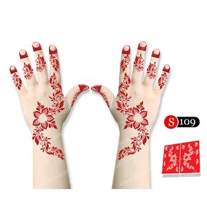 "<em class=""search-results-highlight"">Majarat</em> Henna Design Sticker Small S109 18x15cm"