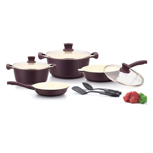 Prestige Cast Aluminum Ceramic Cookware Set 9pcs 80951