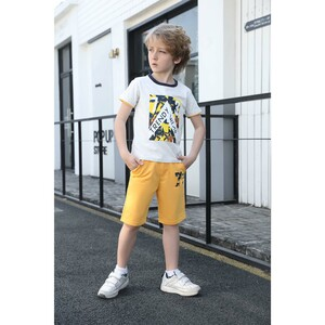 Debackers Boys T.Shirt Short Sleeve + Knit Shorts White 2519