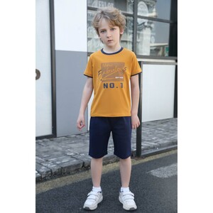 Debackers Boys T.Shirt Short Sleeve + Woven Shorts Yellow 2532