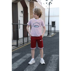 Debackers Boys T.Shirt Short Sleeve + Woven Shorts Red 2538