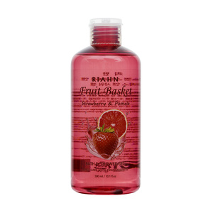 Riahn Fruit Basket Strawberry & Pomelo Bath & Shower Gel Bottle 300ml