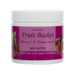Riahn Fruit Basket Rhubarb & Pomegranate Body Butter Jar 225g