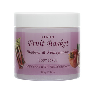 Riahn Fruit Basket Rhubarb & Pomegranate Body Scrub Jar 225g