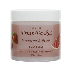 Riahn Fruit Basket Strawberry & Pomelo Body Scrub Jar 225g