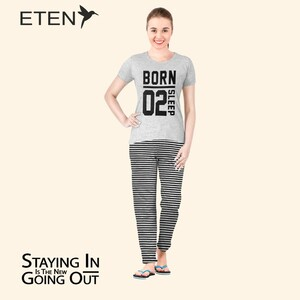 Eten Women's Pyjama Set Short Sleeve VJ 21-07
