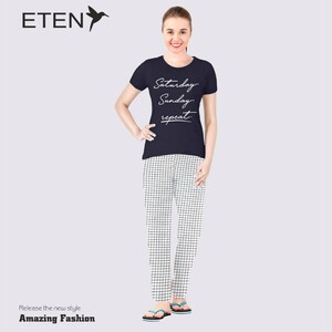 Eten Women's Pyjama Set Short SleeveVJ 21-10