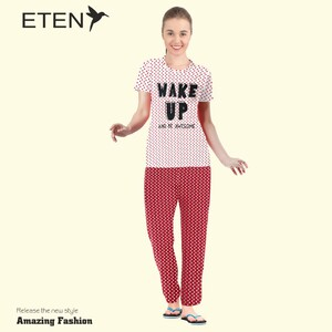 Eten Women's Pyjama Set Short Sleeve VJ 21-15