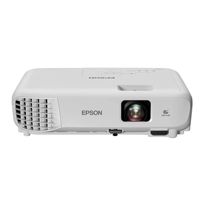 Epson EB-E01 3LCD, 3300 Lumens, Easy Alignment, Up to 18 years Lamp Life, Portable XGA Projector - White