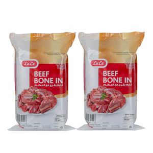 Lulu Frozen Beef Bone In 2 x 900g