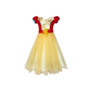 Girls Party Frock GPRNC01Yellow 2-7Y
