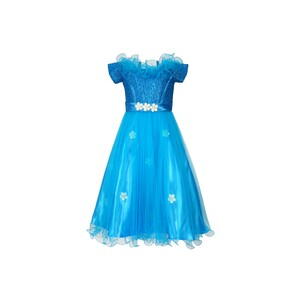 Girls Party Frock GPRNC02 Blue, 2-7Y