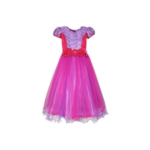 Girls Party Frock GPRNC03Purple, 2-7Y