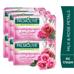 Palmolive Naturals Bar Soap Milk & Rose Petals 170g 5+1