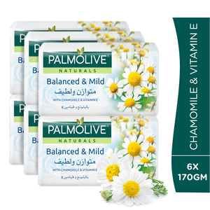 Palmolive Naturals Bar Soap Chamomile and Vitamin E 170g 5+1