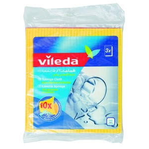 Vileda Sponge Cloth Cleaning Cloth 3pcs
