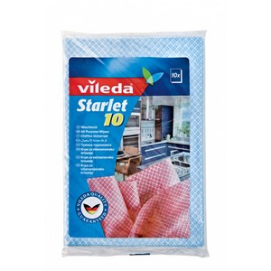 Vileda Starlet All Purpose Cloth Wipes Semi-disposable Cleaning Cloth 10pcs