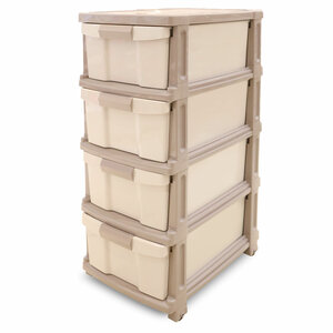 JCJ Plastic Drawer 4Tiers Assorted Color