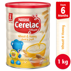 Nestle Cerelac Infant Cereals with Iron + Wheat & Honey From 6 Months 1kg