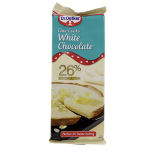 Dr Oetker Fine Cooks White Chocolate  150 GM