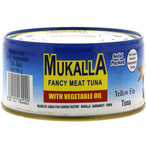 Mukalla Fancy Meat Tuna With Vegetable Oil 185g