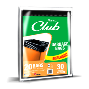 Sanita Club Garbage Bags Biodegradable 30 Gallons Size 60 x 90cm 20pcs