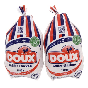 Doux Frozen Griller Chicken 1100g X 2pcs