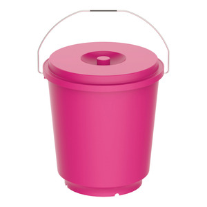 Cosmoplast Bucket With Lid EX100 26Ltr Assorted Color