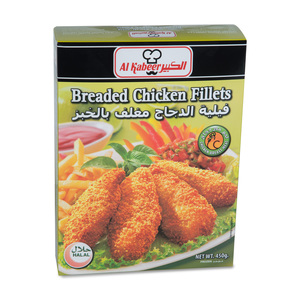 Al Kabeer Breaded Chicken Fillet 450g