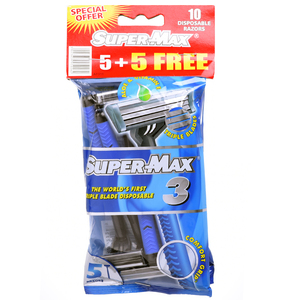 Supermax Men Disposable Triple Blade 5pcs
