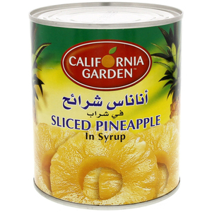 California Garden Canned Pineapple Slices In Light Syrup 850g