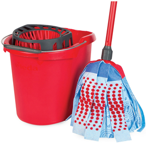 Vileda Super Mop Set + Mop Bucket with Wringer