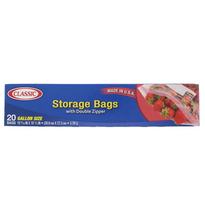 Classic Snap & Seal Snack Bag 1 Gallon Size 26.8 x 27.3cm 20pcs
