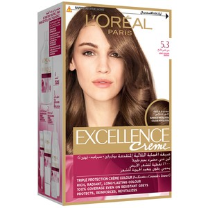 L'Oreal Paris Excellence Creme 5.3 Golden Light Brown Hair Color 1 Packet