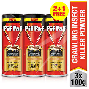 Pif Paf Crawling Insect Killer Powder 3 x 100g