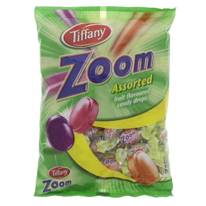 Tiffany Zoom Assorted Fruit Flavoured Candy Drops 700 g